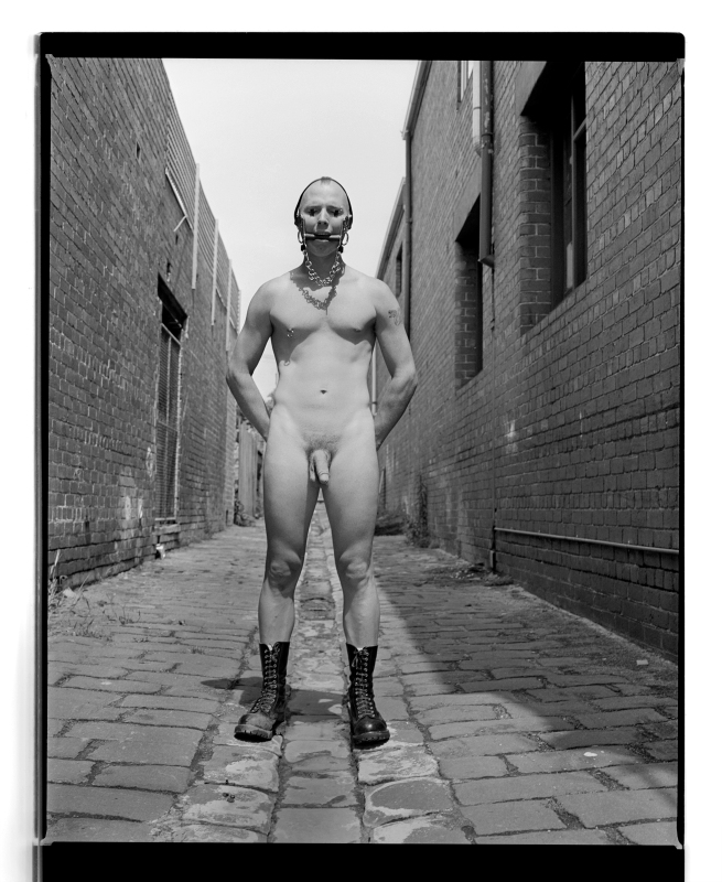 Marcus Bunyan. 'Paul (Hands behind back)' 1994 from the series 'Mask'