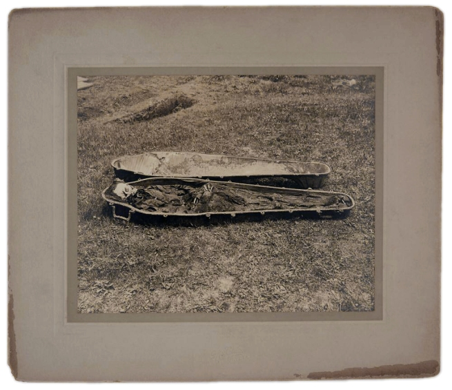 Unknown photographer (American) 'Photograph Depicting an Exhumed Coffin' c. 1870s-1890s
