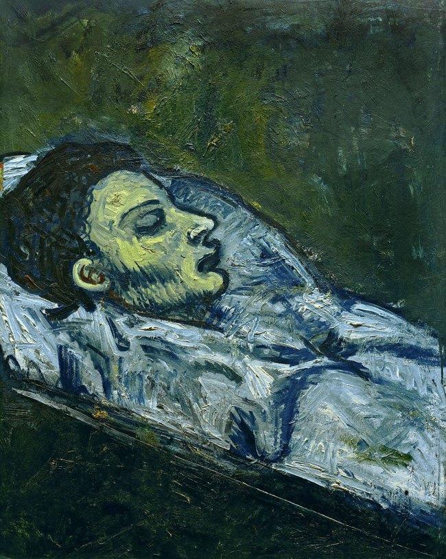Pablo Picasso (Spanish, 1881-1973) 'Casagemas dans cercueil' (Casagemas in His Coffin) 1901