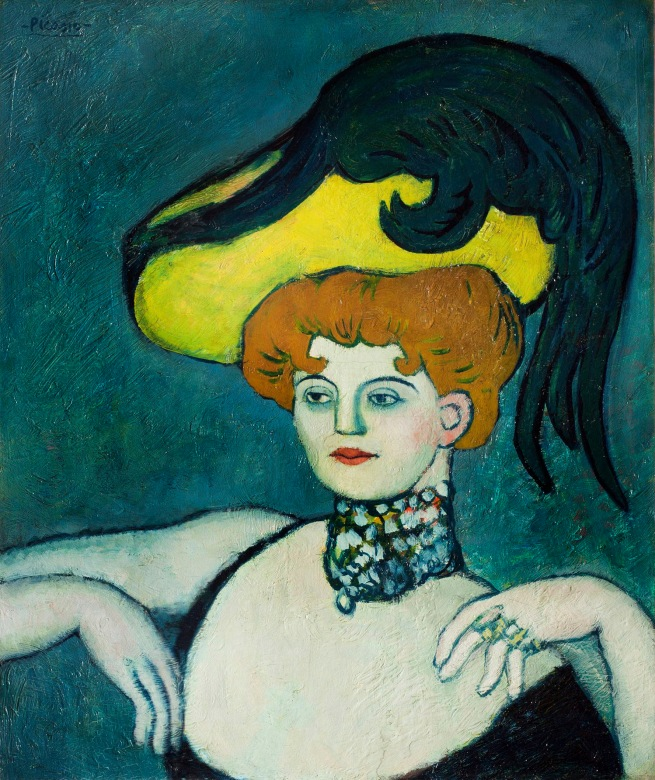 Pablo Picasso (Spanish, 1881-1973) 'Courtesan with necklace of gems' 1901