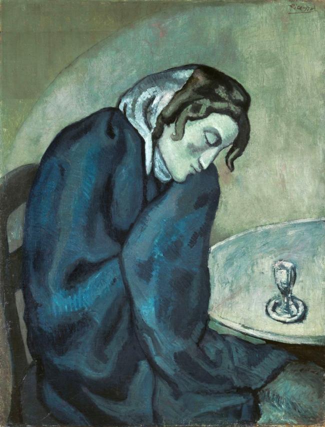 Pablo Picasso (Spanish, 1881-1973) 'La Buveuse assoupie' (The Drinker dozing) 1902