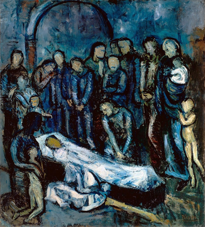 Pablo Picasso (Spanish, 1881-1973) 'Le Mort (la mise au tombeau)' (Death (The Burial)) 1901