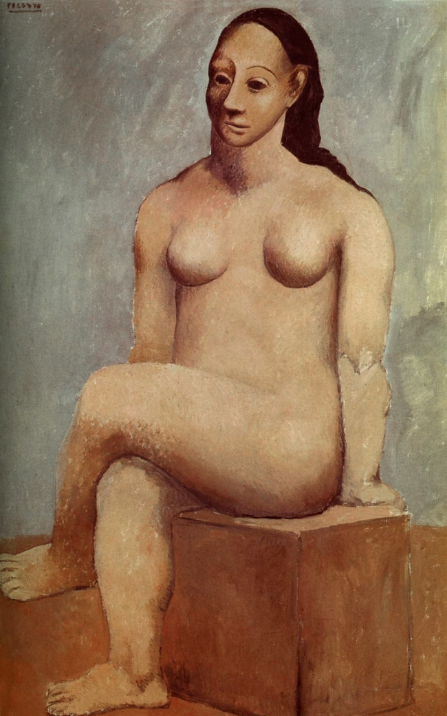 Pablo Picasso (Spanish, 1881-1973) 'Femme nue assise, les jambes croisées' (Seated Female Nude with Crossed Legs) 1906