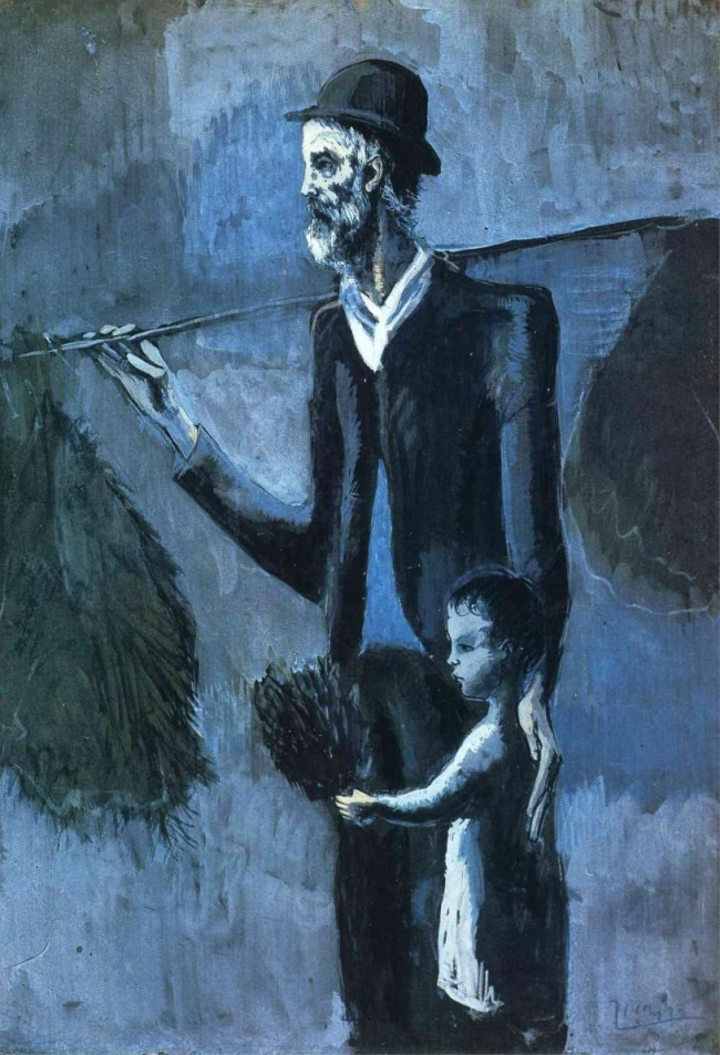 Pablo Picasso (Spanish, 1881-1973) 'Le Marchand de gui' (The Mistletoe Seller) 1902-03