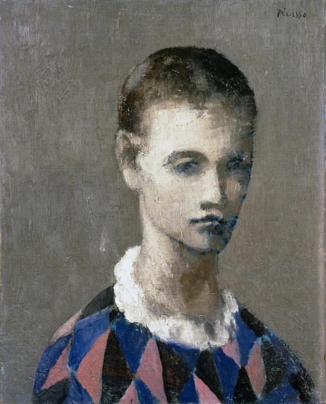Pablo Picasso (Spanish, 1881-1973) 'Tête d'un arlequin' (Head of a harlequin) 1905