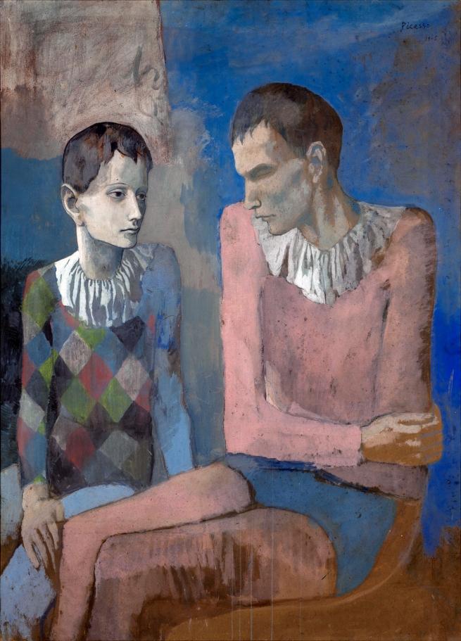 Pablo Picasso (Spanish, 1881-1973) 'Acrobate et jeune arlequin' 1905