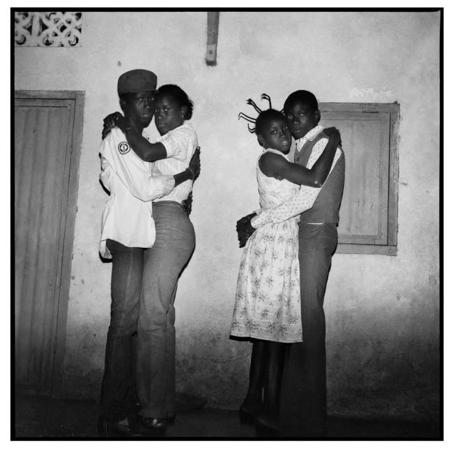 Sanlé Sory (West African, b. 1943) 'Deux couples dansant le blues' 1979