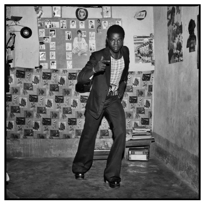 Sanlé Sory (West African, b. 1943) 'Le Malien et ses chaussures a la mode' 1975