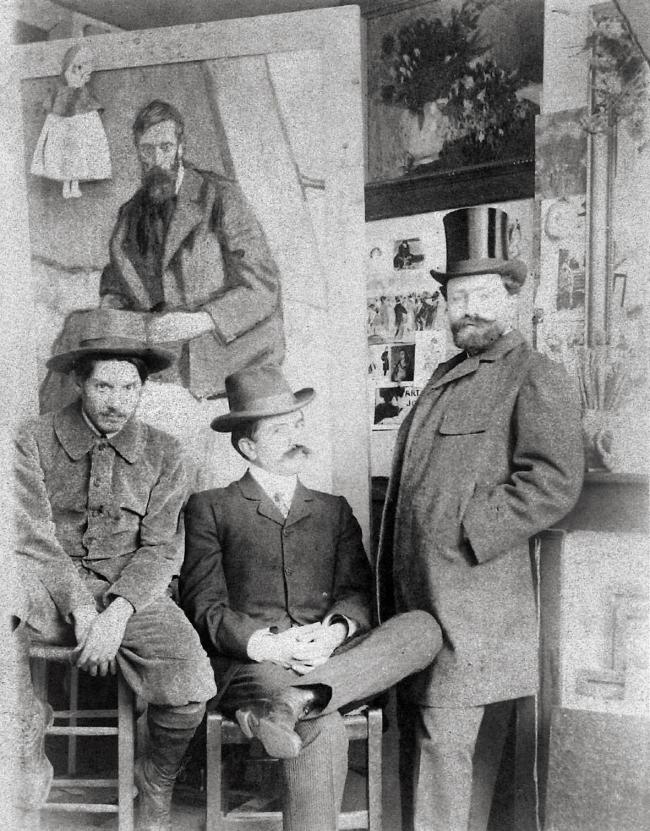 Unknown photographer. 'Pablo Picasso, Pere Mañach and Antonio Torres Fuster, Boulevard de Clichy 130, Paris' 1901