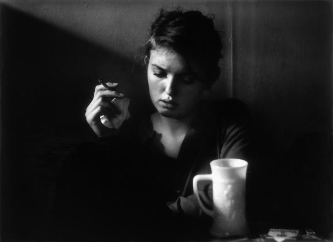 Dave Heath (Canadian, born United States, 1931-2016) 'Janine Pommy Vega, Seven Arts Coffee Gallery, New York' 1959
