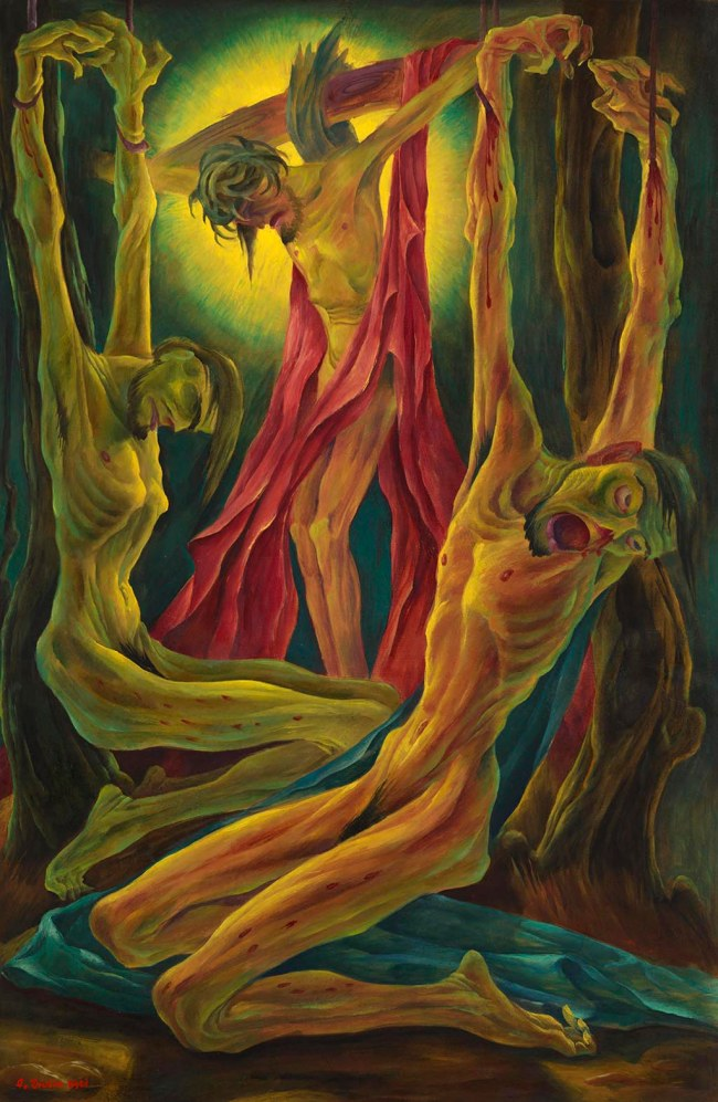 Albert Birkle (German, 1900-1986) 'Crucifixion' (Kreuzigung) 1921