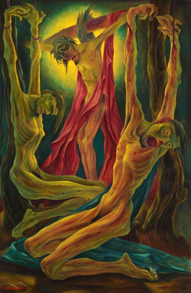 Albert Birkle (German, 1900-1986) 'Crucifixion' (Kreuzigung) 1921