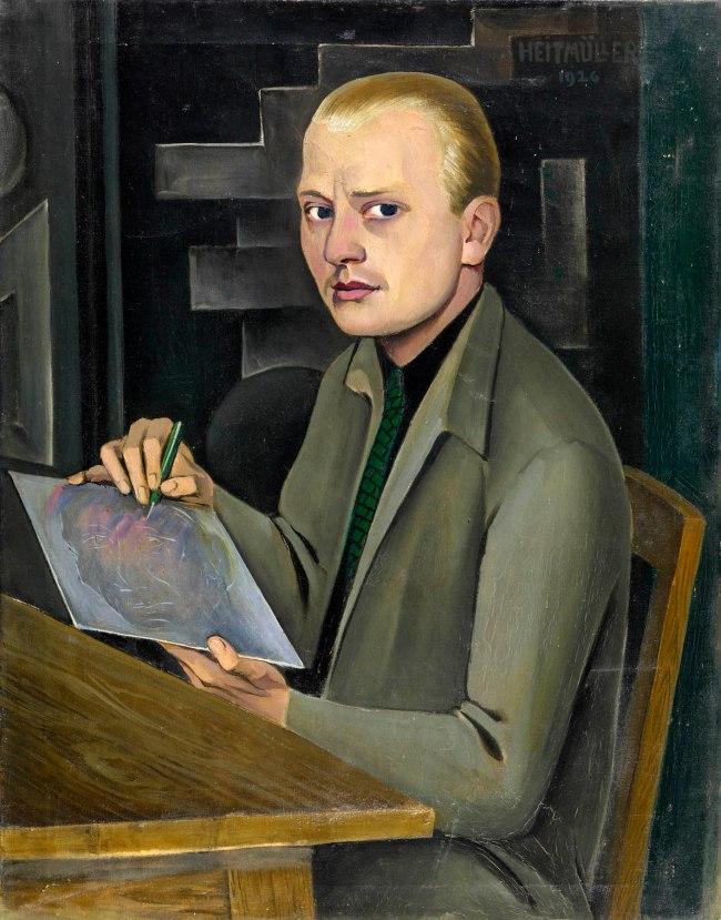 August Heitmüller (German, 1873-1935) 'Self-Portrait' 1926