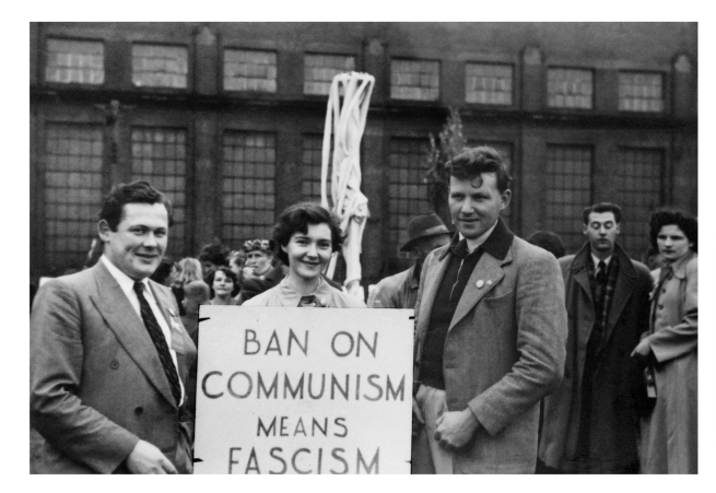 Joyce Evans (Australian, 1929-2019) 'Ban on Communism Means Fascism, May Day March, Flinders Street, Melbourne' 1951