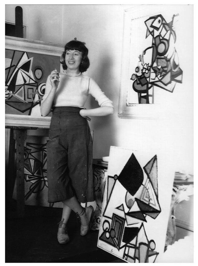Maurice Berezov (American, 1902-1989) 'Lee Krasner in her New York studio' 1939
