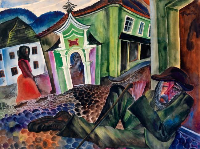 Conrad Felixmuller. 'The Beggar of Prachatice' 1924