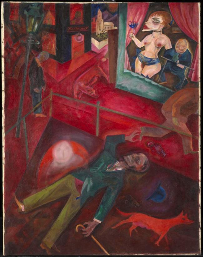 George Grosz (German, 1893-1959) 'Suicide' (Selbstmörder) 1916