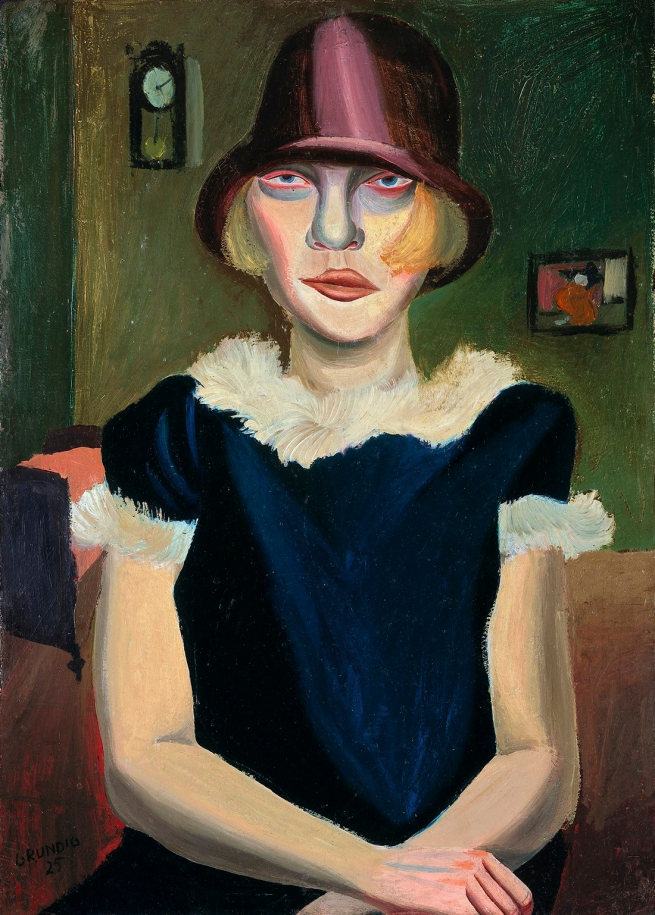 Hans Grundig (German, 1901-1958) 'Girl with Pink Hat' 1925