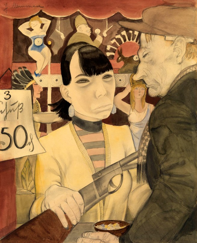Jeanne Mammen (German, 1890-1976) 'At the Shooting Gallery' 1929