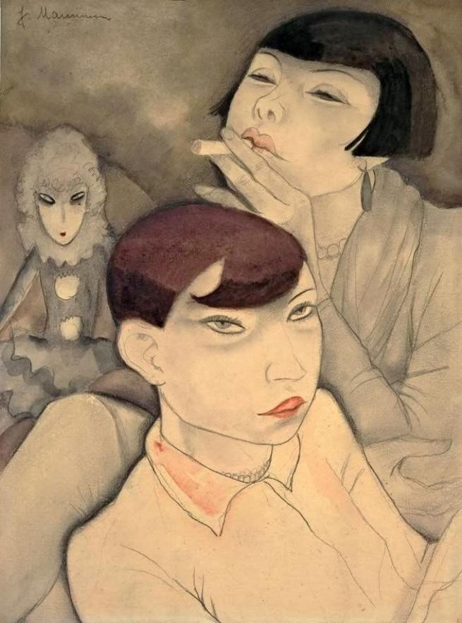 Jeanne Mammen (German, 1890-1976) 'Boring Dolls' (Langweilige Puppen) 1929
