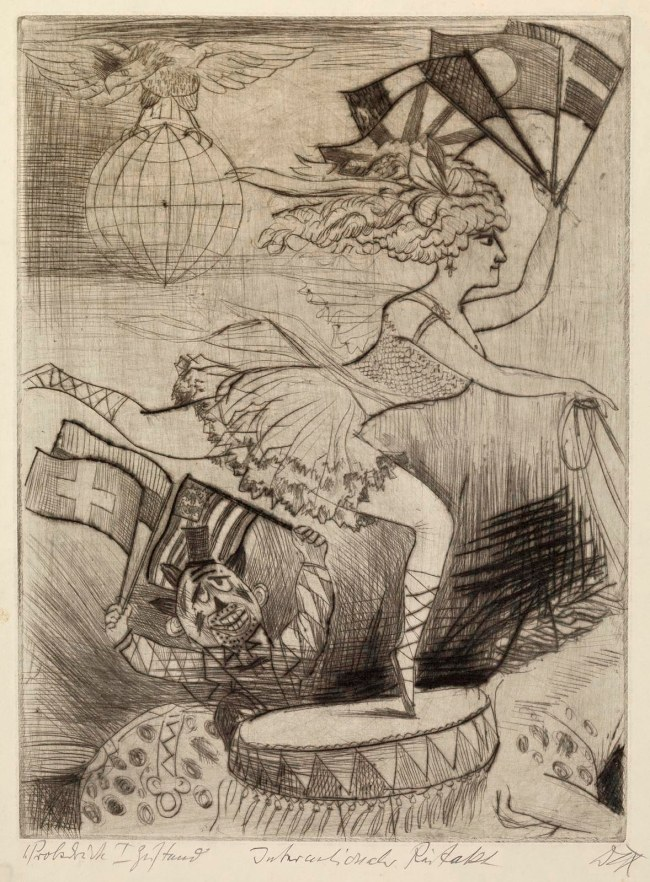 Otto Dix (1891-1969) 'International Riding Act' (Internationaler Reitakt) 1922