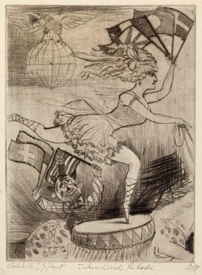 Otto Dix(1891-1969) 'International Riding Act' (Internationaler Reitakt) 1922
