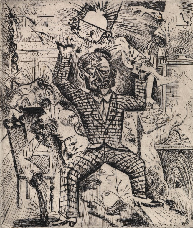 Otto Dix (German, 1891-1969) 'Lust Murder' (Lustmord) 1922