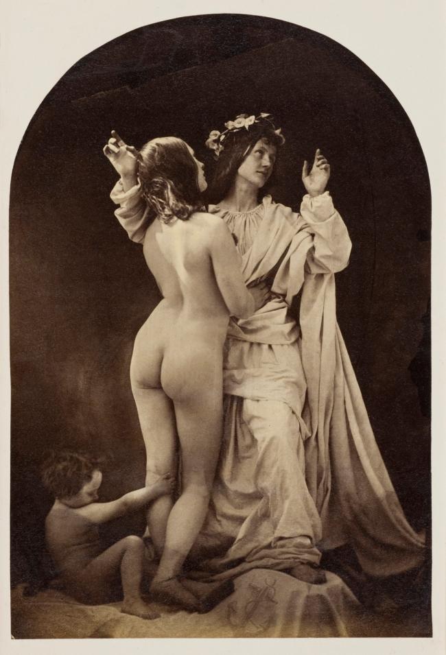 Oscar G. Rejlander (British, born Sweden, 1813-1875) 'Allegorical Study (Sacred and Profane Love)' c. 1860