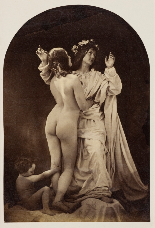 Oscar G. Rejlander (British, born Sweden, 1813-1875) 'Allegorical Study (Sacred and Profane Love)' c. 1860
