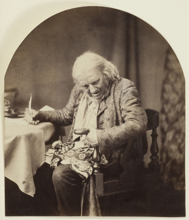 "Oscar G. Rejlander (British, born Sweden, 1813-1875) '""Father Times"" (Where's the Cat?)' c. 1860"