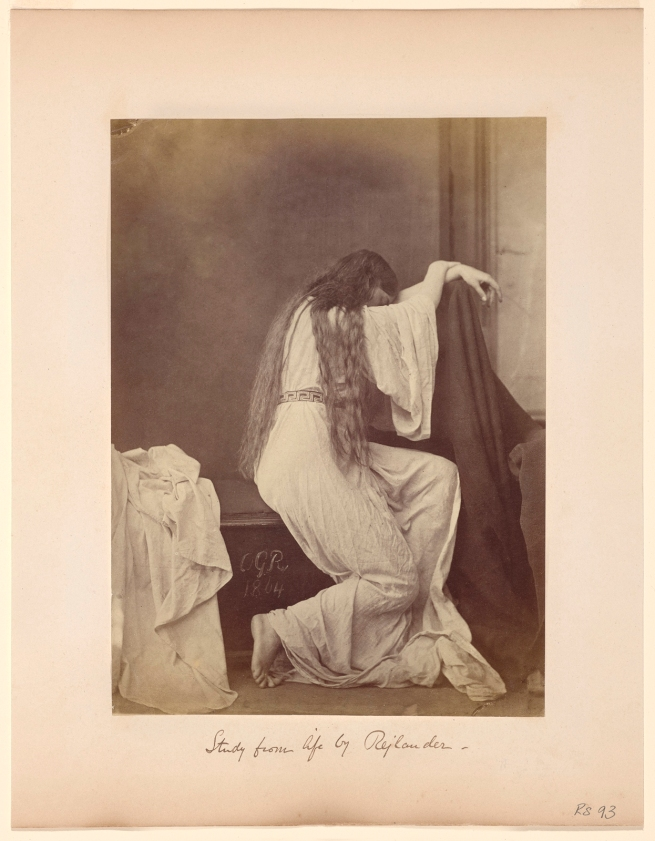 Oscar G. Rejlander (British, born Sweden, 1813-1875) 'Grief (Hidden Her Face, Yet Visible Her Anguish)' 1864