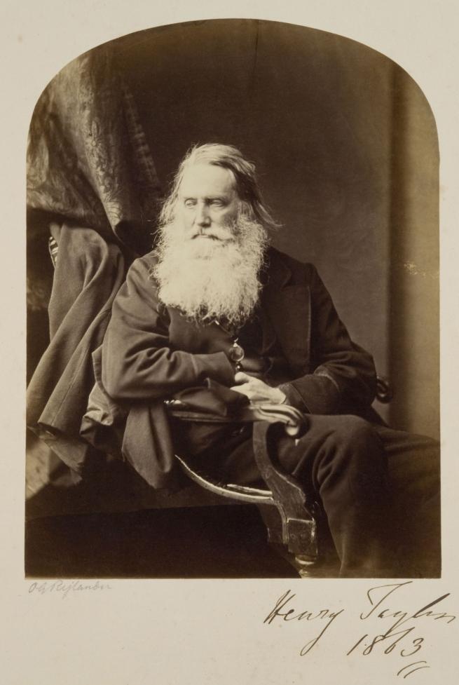 Oscar G. Rejlander (British, born Sweden, 1813-1875) 'Henry Taylor' 1863