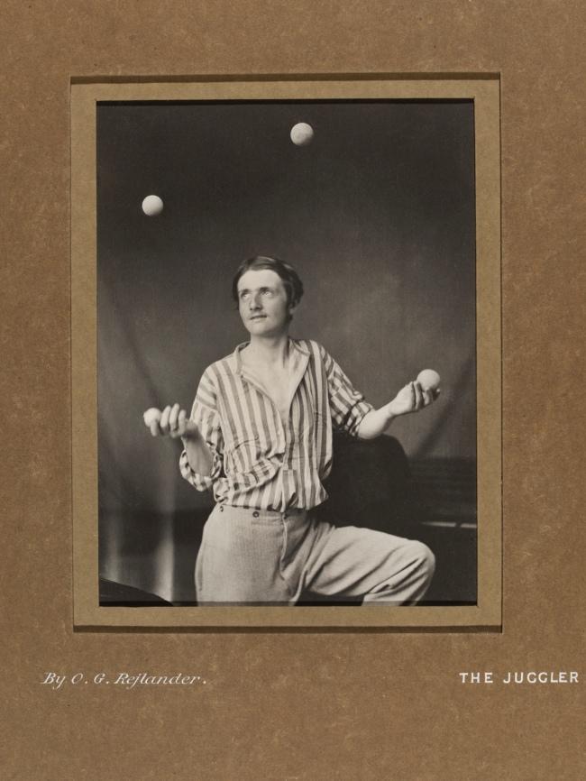 Oscar G. Rejlander (British, born Sweden, 1813-1875) 'The Juggler' c. 1865, printed later