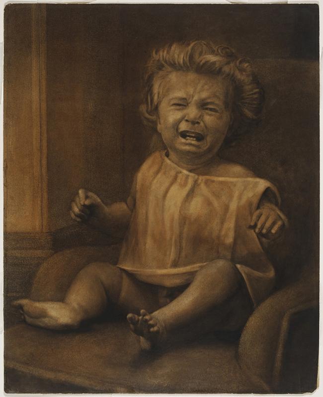 Oscar G. Rejlander (British, born Sweden, 1813-1875) 'Mental Distress (Mother's Darling)' 1871