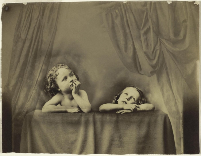 Oscar G. Rejlander (British, born Sweden, 1813-1875) 'Non Angeli sed Angli (Not Angels but Anglos), after Raphael's Sistine Madonna' c. 1854-1856