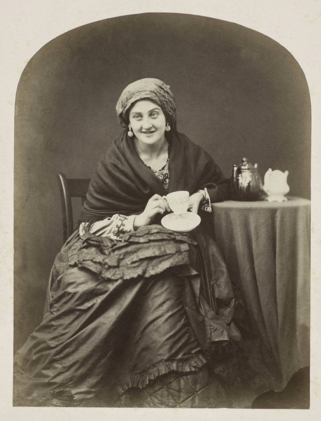 Oscar G. Rejlander (British, born Sweden, 1813-1875) 'The Cup that Cheers' c. 1860