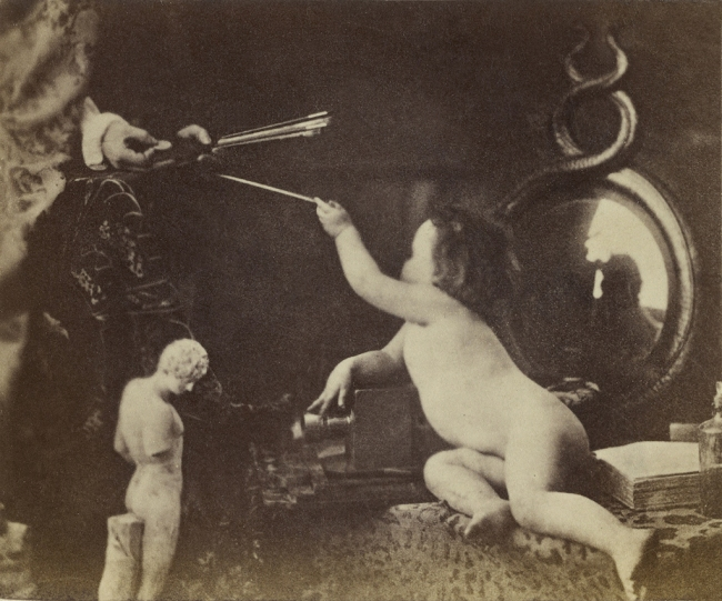Oscar G. Rejlander (British, born Sweden, 1813-1875) 'The Infant Photography Giving the Painter an Additional Brush' c. 1856