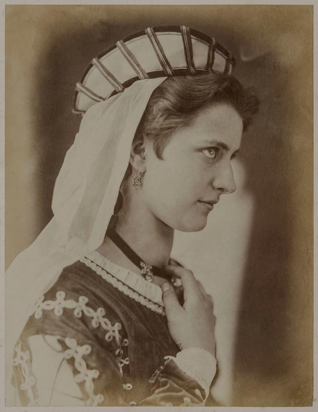 Oscar G. Rejlander (British, born Sweden, 1813-1875) 'Young Lady in a Costume' c. 1860