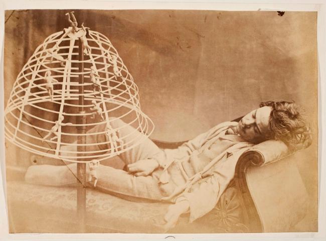 Oscar G. Rejlander (British, born Sweden, 1813-1875) 'The Bachelor's Dream' c. 1860