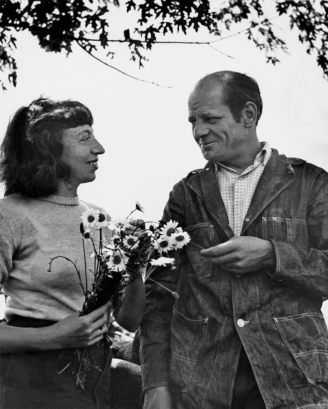 With Jackson Pollock in Springs, London Island, 1949
