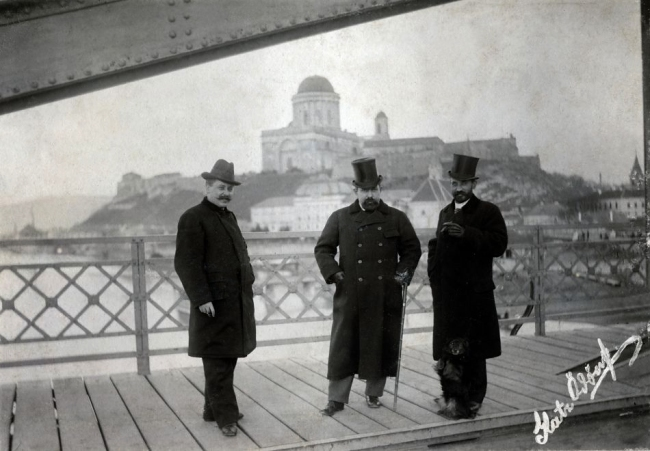 Unknown photographer. 'Hungary, Slovakia, Esztergom the Castle Hill and the Basilica from the Maria-Valeria Bridge' 1900