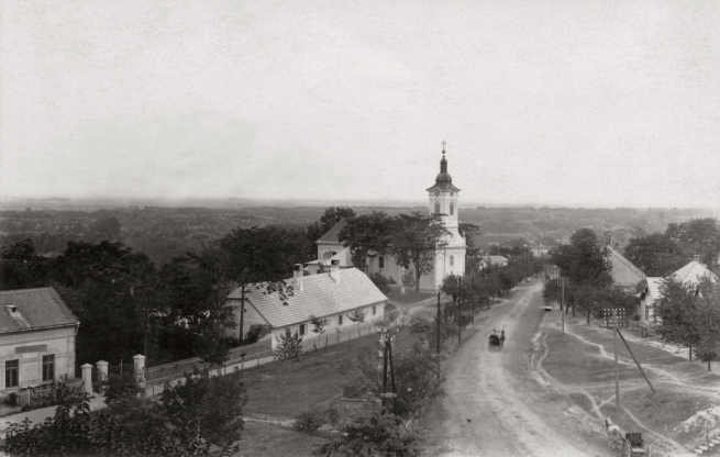 Unknown photographer. 'Hungary, Rácalmás opposite the Catholic Church (demolished in 1969)' 1920
