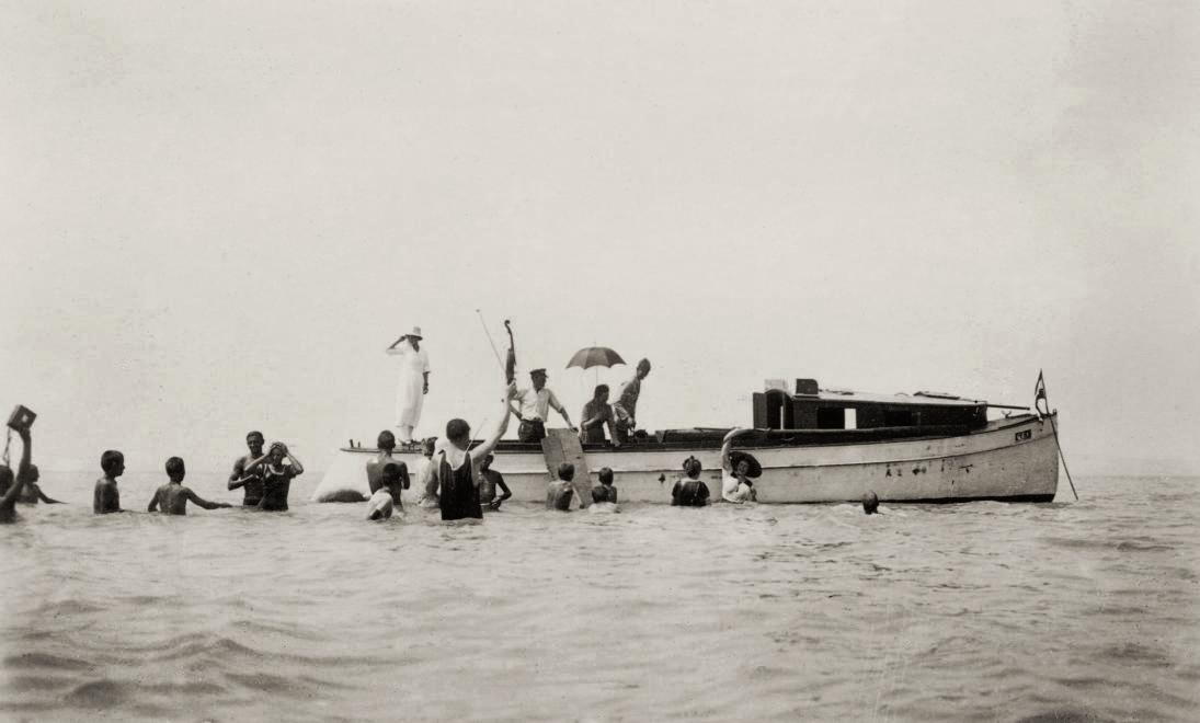 1939 World War Two II Shark Attack US Navy USS Indianapolis Silver Halide Photo