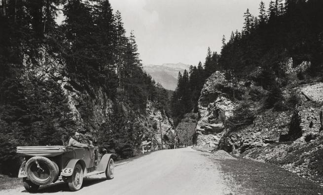 Unknown photographer. 'Slovakia, Three Revuca highway between Veľký Šturec pass and village, opposite Čierny Kameň' 1935