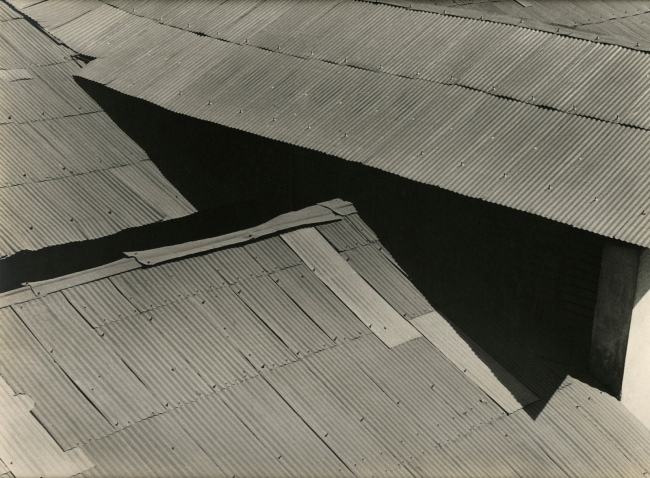 Brett Weston. 'Tin roofs, Mexico' 1926