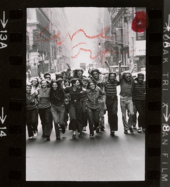 Peter Hujar (American, 1934-1987) 'Contact sheet: Gay Liberation Front poster image shoot' (detail) 1969 or 1970