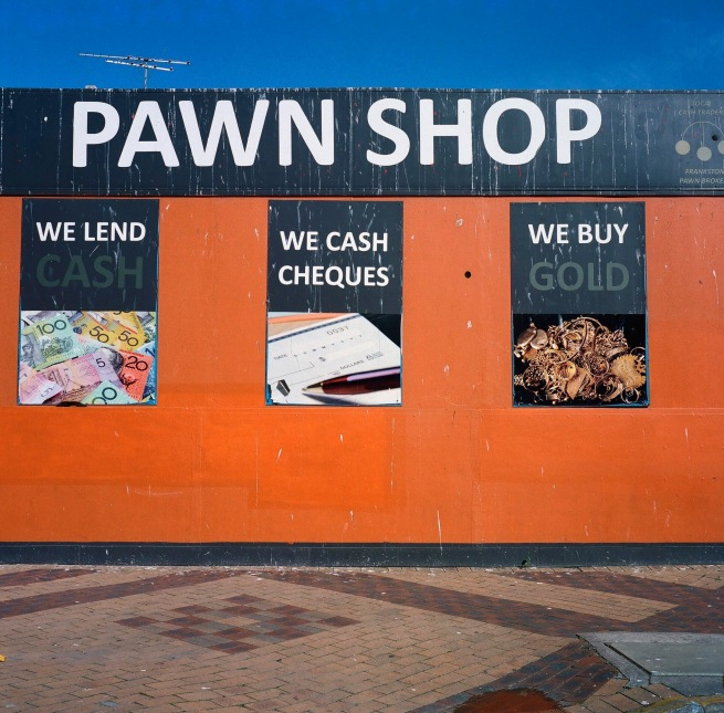Glenn Sloggett. 'Pawn shop' 2018