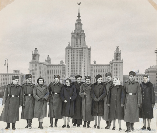Photographer Unidentified. 'Group at the Main Building, Moscow State University' after 1953