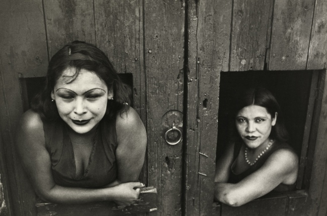 Henri Cartier-Bresson. 'Calle Cuauhtemoctzin (two prostitutes), Mexico City' 1934
