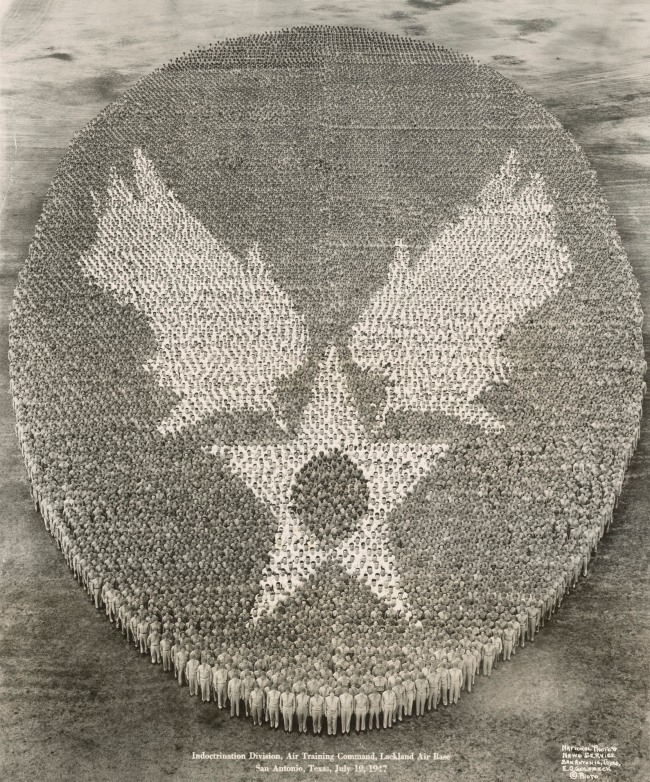 Eugene Omar Goldbeck (American, 1892-1986) 'Indoctrination Division, Air Training Command, Lackland Air Base, San Antonio, Texas, July 19, 1947' 1947